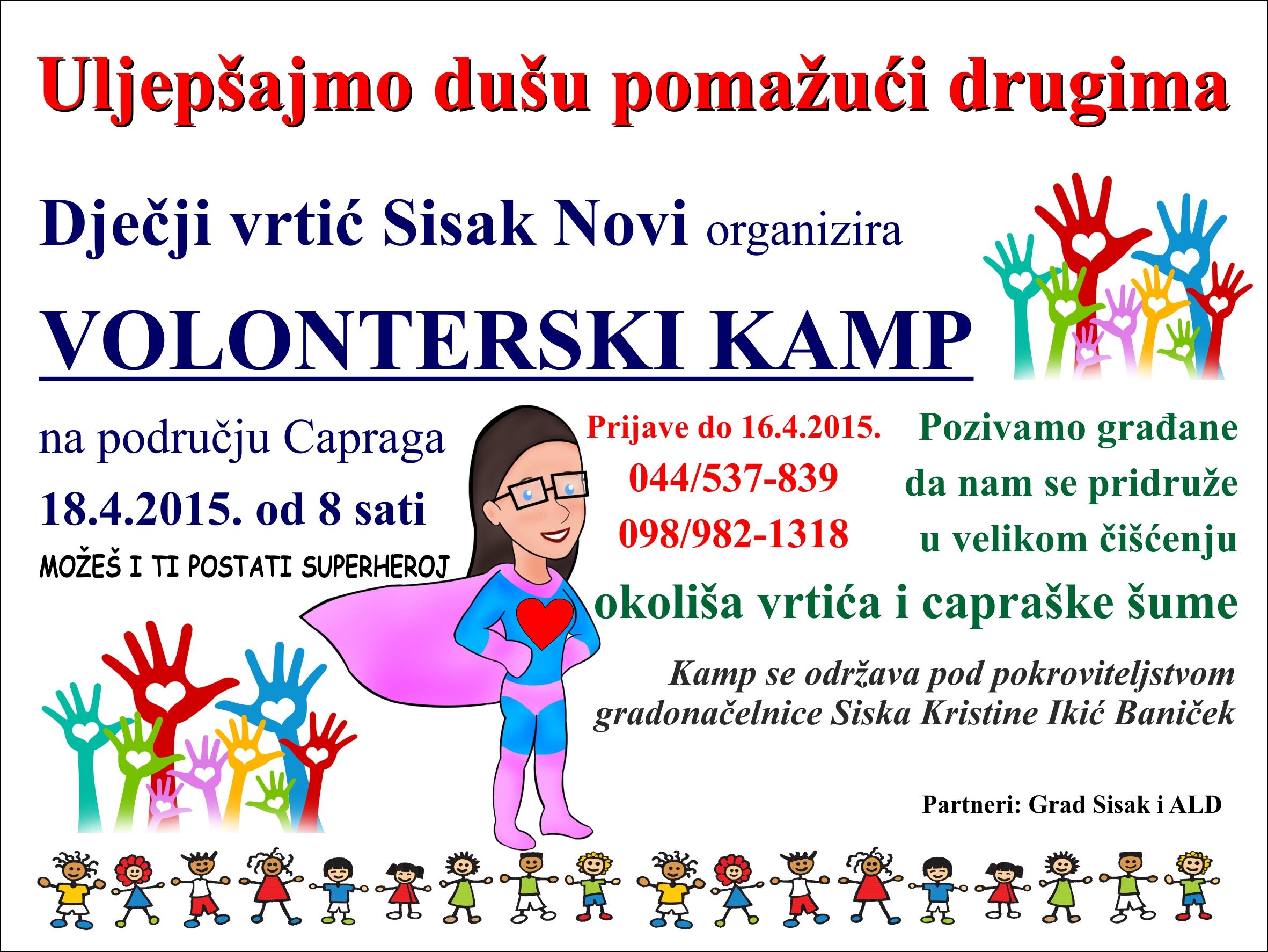 Volonterski kamp u Dječjem vrtiću Sisak novi