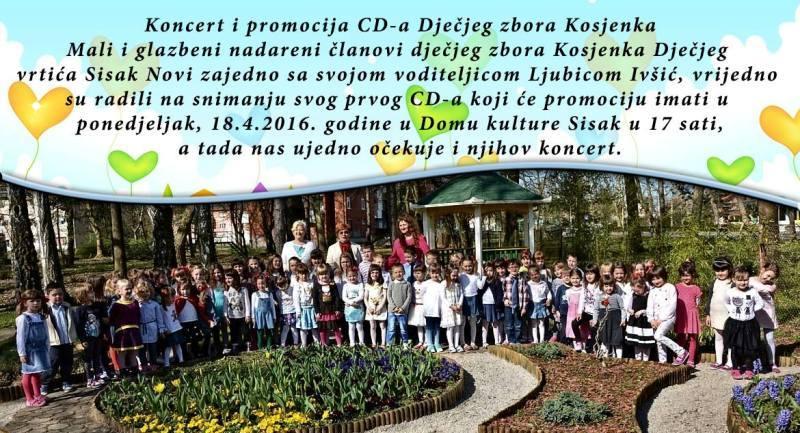 Zbor Kosjenka promovira prvi album u Domu kulture