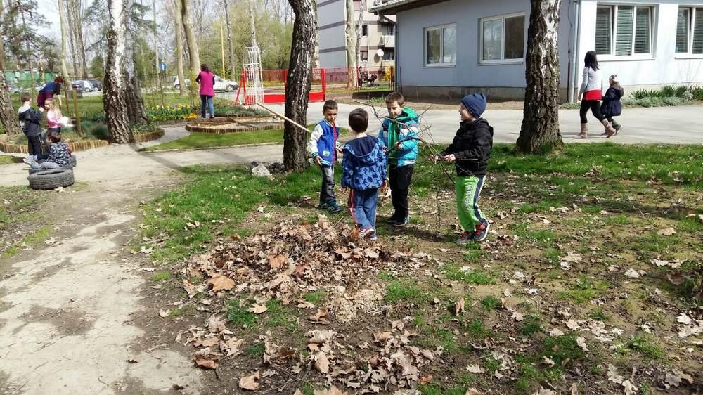 Bipsići u proljetnom čišćenju i blagovanju