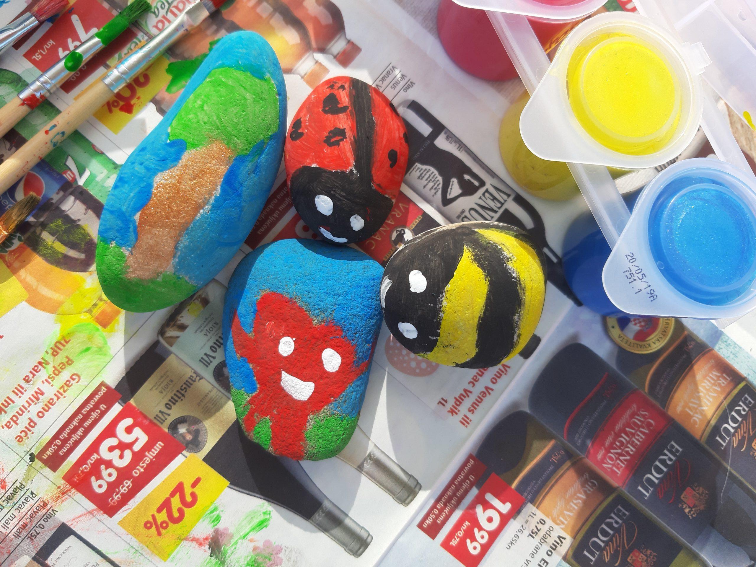 Oslikavanje kamenčića – likovno-istraživačka aktivnost