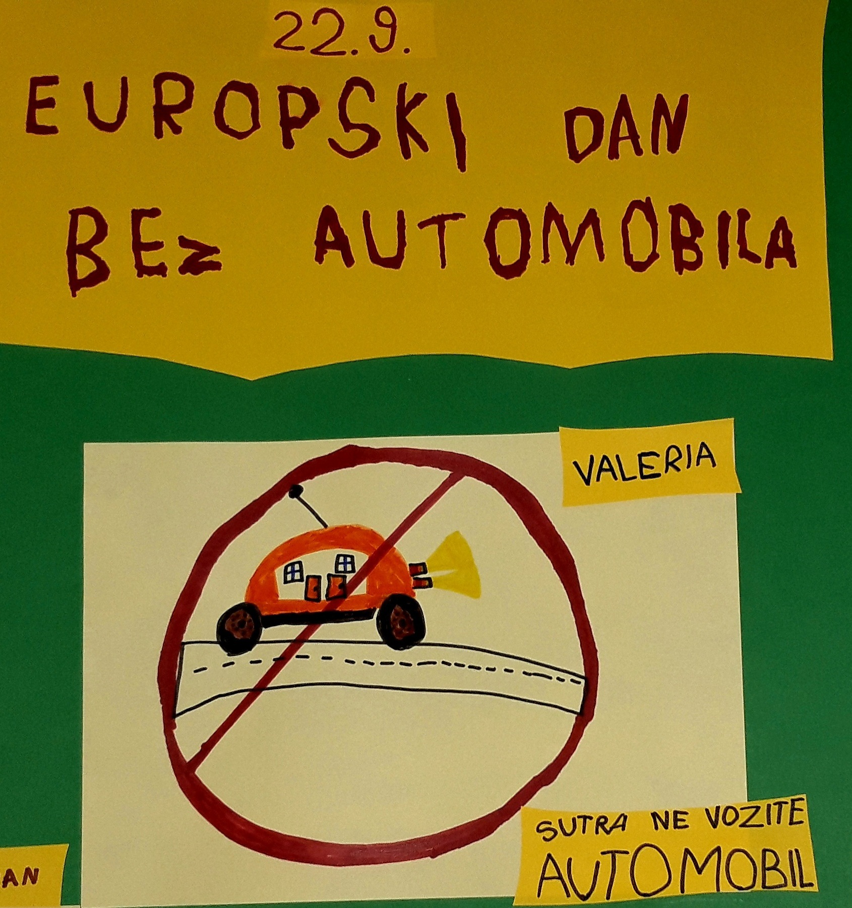 "Europski dan bez automobila – skupina ""Bombončići"""